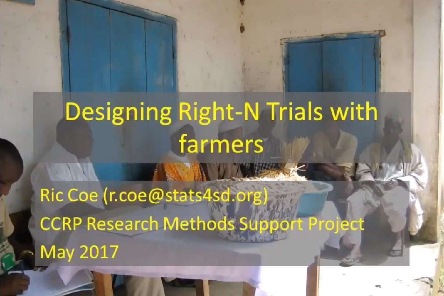 "Designing ""Right-N"" Trials - Webinar Series"